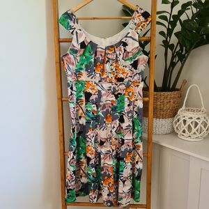 Target Abstract Floral Dress Size 14